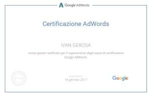 Certificazione Adword